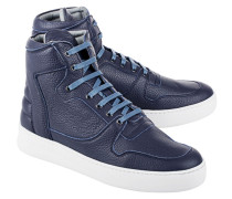 Lederschuh im Sneakerstyle  // High Top Transformed Queen Navy Blue