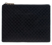 Große Leder-Clutch  // Square Leath Large Black