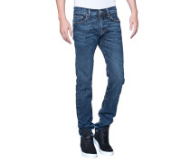 Hüfthohe Skinny-Jeans  // Rocco Cobalt Blue Denim