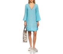 Leinen-Kleid mit Strasssteinen