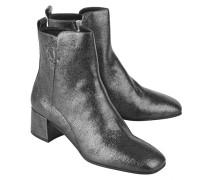 Metallische Ankle Boots aus Leder