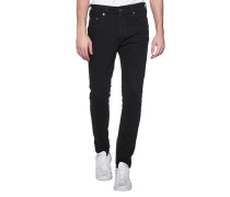 Jeans mit Reißverschluss-Detail  // Mick Inglorious Black
