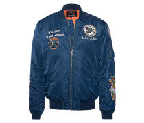 Bomberjacke mit Patches  // Patches Bomber Brode Navy