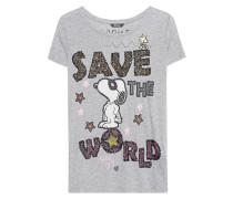 T-Shirt mit Print  // Save The World Grey