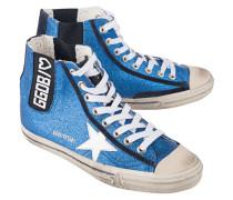 Hohe Sneakers mit Glitzerbesatz  // V-Star Blue Glitter White Star