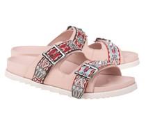 Sandale mit Stickerei-Details