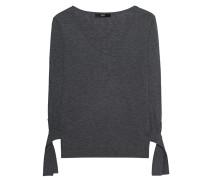 Feinstrick-Pullover mit Schleifen  // Sleeve Bow Medium Grey