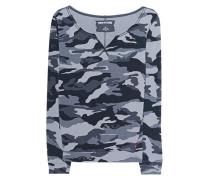 Langärmliges Baumwoll-Sweatshirt  // Crew Sweat Horseshoe Camo Black