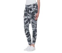 Jogginghose im Camouflage-Design  // Long Crotch Black