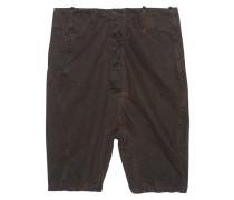 Tief sitzende Baumwoll-Shorts  // P3 Black Rust