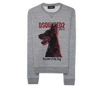 Bedrucktes Sweatshirt  // Dog Print Grey