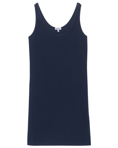 Baumwoll-Stretch-Tanktop  // Layers Scoop Navy