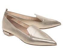 Spitze Leder-Loafers  // Beya Gold