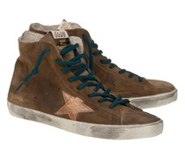 High-Top Wildleder-Sneaker