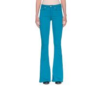Ausgestellte High-Waist Skinny-Jeans