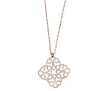 18 kt rosévergoldete Kette mit Zirkonias  // Shiny Arabesque Pink