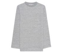 Baumwoll-Pullover mit Rücken-Stickerei  // Golden Deluxe Grey
