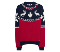 Woll-Mix-Strickpullover  // Intarsia Wool Red
