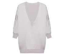 Wendbarer Feinstrick-Pullover  // Reversible Light Grey