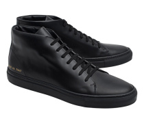 New Court Mid in Boxed Leather Black