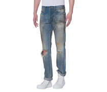 Slim-Fit Jeans im Dirt-Look  // Med Demon