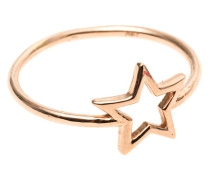 14k Roségold-Ring  // Ring Star
