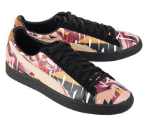 Gemusterte Leder-Sneakers