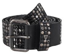 Ledergürtel mit Nietenbesatz  // 10.000 Studs Deluxe Black
