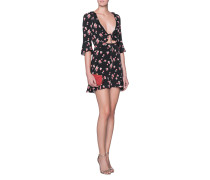 Minikleid mit Kirschen-Print  // Cherry Sundress Black