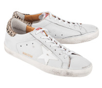 Leder-Sneaker mit Ponyfell  // Superstar Ice Leather Leo Pony