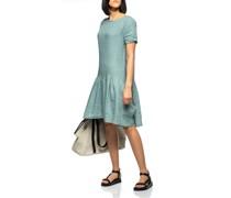 Oversize Leinen-Kleid mit Volant