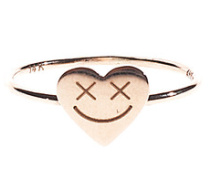 14 Karat Goldring  // Full Heart Smiley Gold