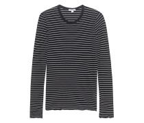 Fine Stripe Crew Black & White