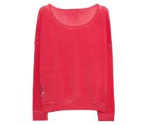 Baumwoll-Mix-Sweatshirt  // Crew Fleece Destroyed Red