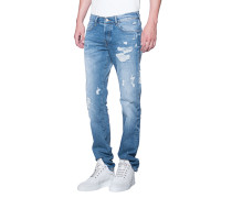 Destroyed Skinny-Jeans  // Rocco Glory Blue