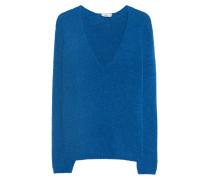 Alpaka-Mix Pullover mit tiefem V-Ausschnitt  // V-Neck Alpaca Blue