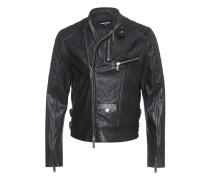 Lederjacke im Biker-Look  // Quilted Schoulder Black