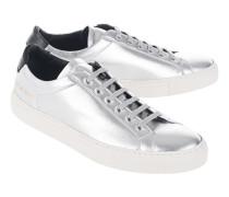 Flache Leder-Sneaker  // Achilles Retro Low Silver