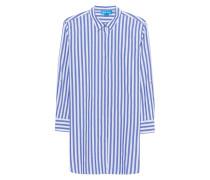 Gestreifte Oversize-Bluse aus Baumwolle  // Oversize Shirt Blue Stripe