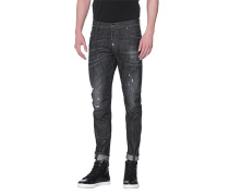 Destroyed Slim Fit Jeans  // Tidy Biker Jean