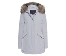 Daunen-Parka mit Fellbesatz  // Luxury Arctic Parka Light Grey
