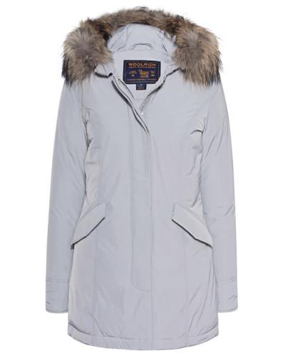 Daunen-Parka mit Fellbesatz  // Luxury Arctic Parka Light Grey