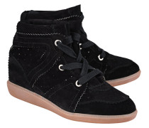 Veloursleder-Wedge-Sneakers  // Bobby Velvet Stainer Black