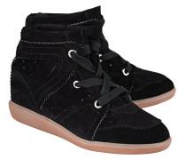 Veloursleder-Wedge-Sneakers