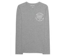 Baumwoll-Langarmshirt mit Print  // Inglewood Grey