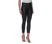 Lammleder-Leggings mit Zippern