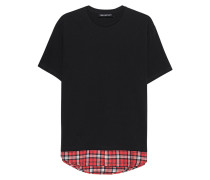 Baumwoll-T-Shirt  // Checked Shirt Black
