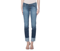 Washed-Out Straight Jeans