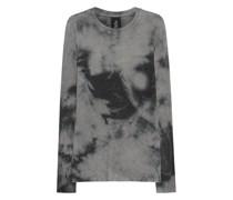 Long-Fit Fleece-Shirt im Marble-Stil