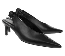 Leder-Sling-Back Pumps